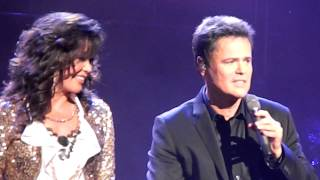 Donny & Marie (Morning Side Of The Mountain) - Caesars Atlantic City, NJ- August 5,2012