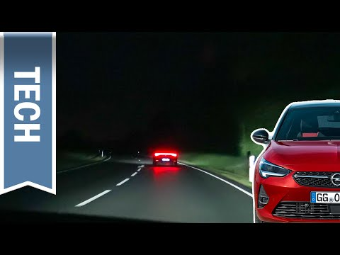 IntelliLux LED Matrix Licht im Opel Corsa F im Test & Nachtfahrt: Matrix LED mit nur 4 LEDs?