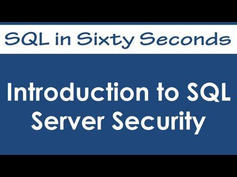 SQL SERVER - Introduction to SQL Server Security - A Primer 0