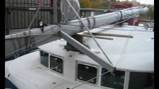 preview picture of video 'Catamara Lagoon 410 S2 in a ship lift'