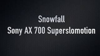 Schneefall in Schwabach - Sony AX 700 Superslomotion
