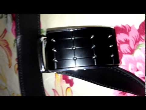Polka Dot and Plaid Shape Embellished Automatic Buckle Belt For Men