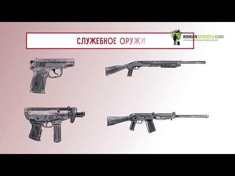 Служебное огнестрельное оружие в работе охранника. Пистолет. | дудл видео для бизнеса