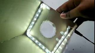 How to make cool hd projector for smartphone at home with led brightness