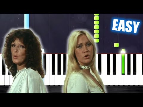 ABBA - Mamma Mia - EASY Piano Tutorial by PlutaX