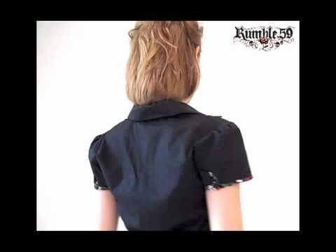 Rockabilly PinUp Bluse von Rumble59