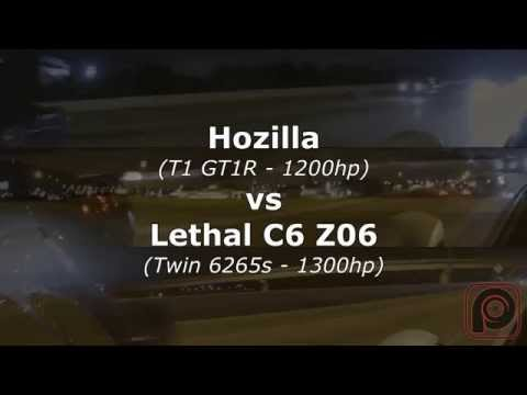 TX2K15 - Hozilla GT1R R35 GTR vs Lethal Performance Z06 Twin Turbo