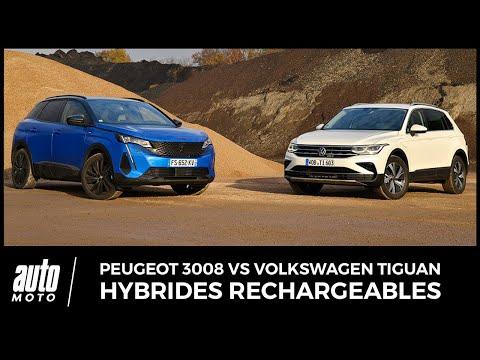 Peugeot 3008 vs Volkswagen Tiguan : duel d'hybrides rechargeables
