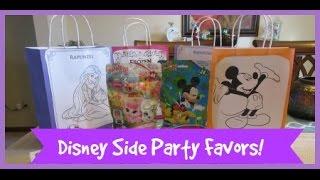Disney Side Princess Party Favor Bags!