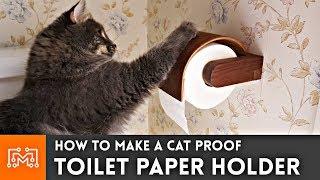 Cat Proof Toilet Paper Holder // Bent Lamination