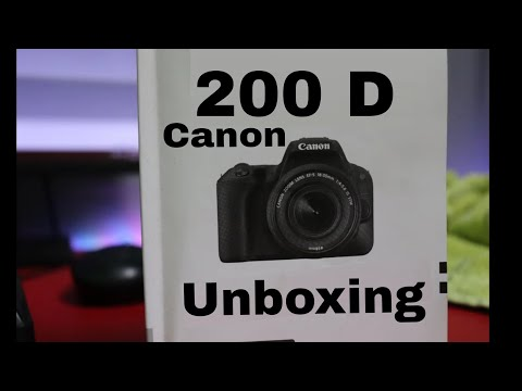 CANON EOS 200D Unboxing and Overview || Rebel SL2 in Hindi By Tech Indian