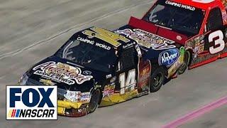 Sledgehammer Thrown At Kevin Harvick After Wreck   NASCAR Trucks Martinsville 2013