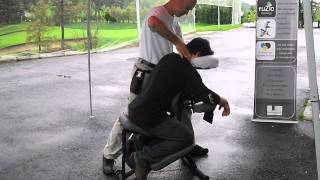 Massage En Entreprise à Lévis Et à Québec, FuZio Massage, Spécialiste Du Massage Sur Chaise