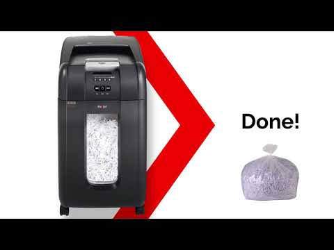 Video of the Rexel Auto+ SmarTech 300X Shredder
