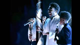 Childish Gambino and JD McCrary perform onstage during the 60th Annual GRAMMY Awards in New York