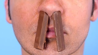 Candy Bar Stuck In Nose!