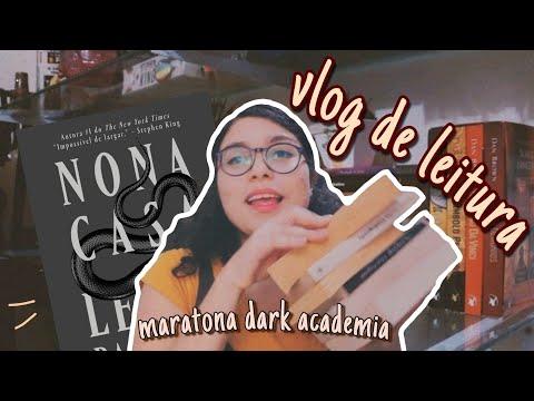 vlog de leitura | book haul, organizando a estante e nona casa | maratona literária dark academia 02