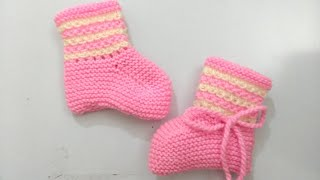 Very Easy Knitting Baby Booties , Shocks , Shoes