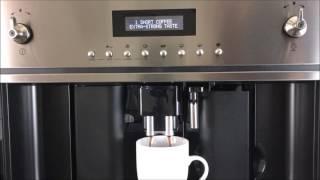 Smeg Coffee Maker Instruction / Tutorial - CMSU6451X and CMSCU451S