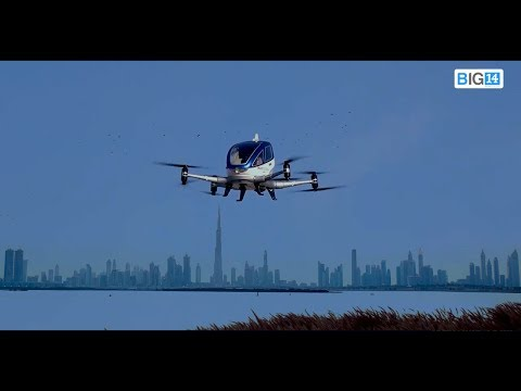 EHANG 184 Flight Test in Dubai 2017.