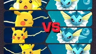 Raichu  - (Pokémon) - Pokémon GO Gym Battles three Gyms Pikachu Raichu Vaporeon Kadabra & more