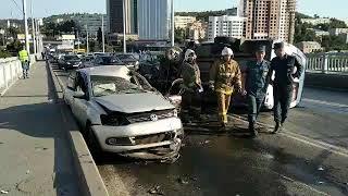 ДТП с десятью пострадавшими остановило движение на мосту Саратов - Энгельс