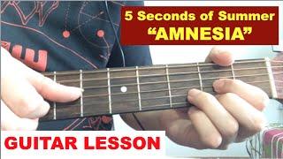 """Amnesia""   5SOS Guitar Tutorial   5 Seconds Of Summer (Easy Lesson)"