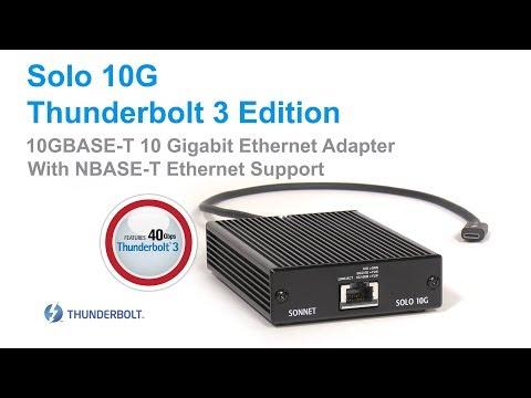 Sonnet Solo 10G TB3 a 10GB Base-T (Ethernet)