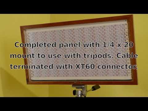 Photographic or work lights using Banggood LED strips