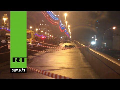la escena del crimen minutos despues del asesinato de borís nemtsov