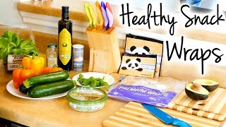 Healthy Snack Ideas: Quick & Easy Veggie Wrap! Snacking Health Tips for Weight Loss & Nutrition