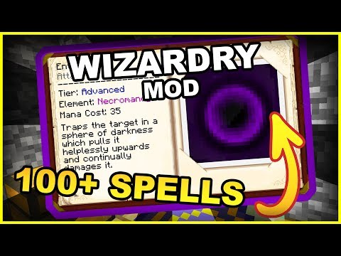 More Than 100 Magical Spells!! • Electroblob's Wizardry Mod • Minecraft Mod Showcase