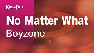 Karaoke No Matter What - Boyzone *