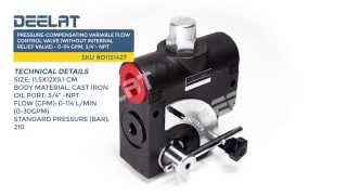 Pressure-Compensating Variable Flow Control Valve(without internal relief valve)-0-114GPM,3/4