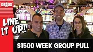 👪 GROUP PULL Week 🎉 YAY 💰 $1500 @ Atlantis Reno ✪ BCSlots (S. 9 • Ep. 1)