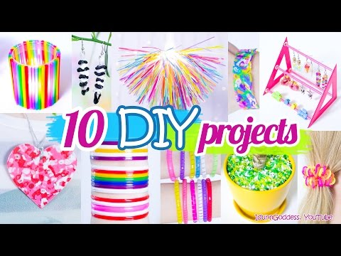10 DIY Projects With Drinking Straws
