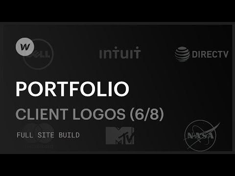 Creating a custom portfolio — Adding social proof with client logos (Part 6 of 8)