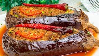Популярный рецепт среди гурманов! Фаршированные баклажаны в духовке - объедение! | Appetitno.TV