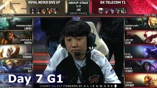 RNG vs SKT | Day 7 S9 LoL Worlds 2019 Group Stage | Royal Never Give Up vs SK Telecom T1
