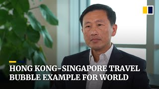 Hong Kong-Singapore travel bubble sets an example for the world, says Singapore transport minister