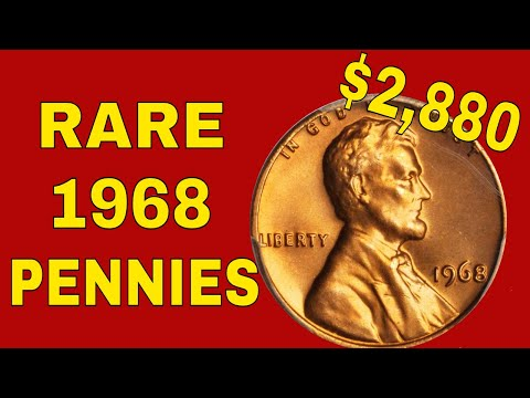 Super rare 1968 pennies worth money! 1968 penny value!