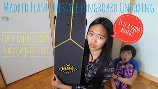 Madrid Flash Freestyle Longboard Unboxing - First Impressions and After 1 Day Review