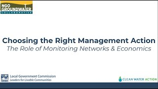 Choosing the Right Management Action The Role of Monitoring Networks and Economics