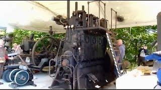 ГИГАНТСКИЙ ДИЗЕЛЬНЫЙ МОТОР ЗАПУСТИЛИ !!!! 3 цилиндра / запуск старого двигателя