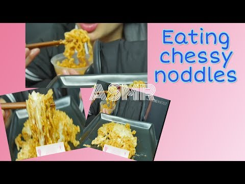 #SasAsmr Eating Cheesy Noddles ||no talking||