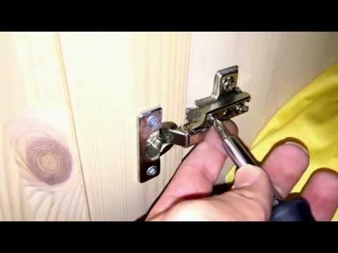 Möbel Türen ausrichten Schrank Tür einstellen Topfbänder justieren Möbel Montage Anleitung