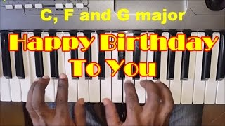 How To Play Happy Birthday To You - Easy Piano Chords - Piano Tutorial