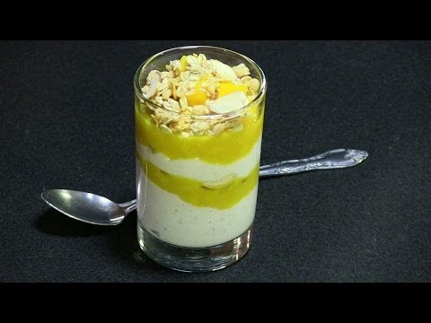 Mango Fruit and Yogurt Parfait – Healthy Dessert Recipe Video