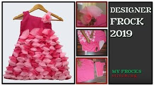 Easy Designer Baby Frock 3 Year Old Girl Part 1