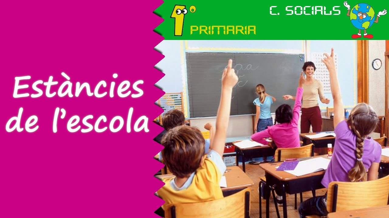Ciències Socials. 1r Primaria. Tema 1: Estàncies de l'escola